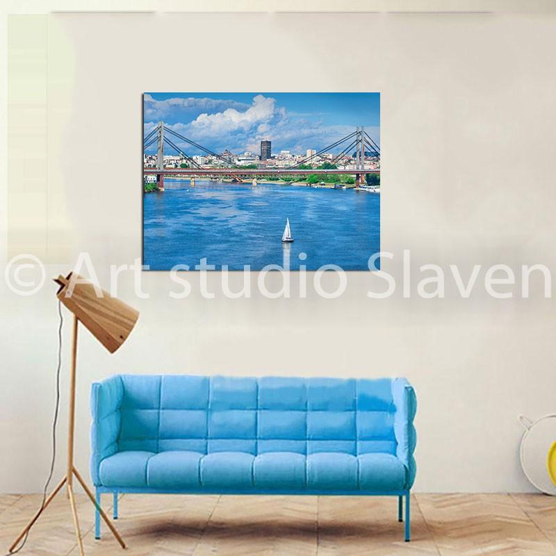 Mostovi I Sava Fotografije Beograda Slike Na Platnu Prodaja